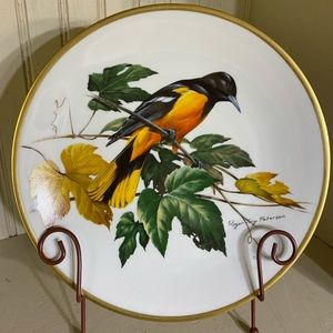 Roger Troy Peterson Baltimore Oriole bird plate